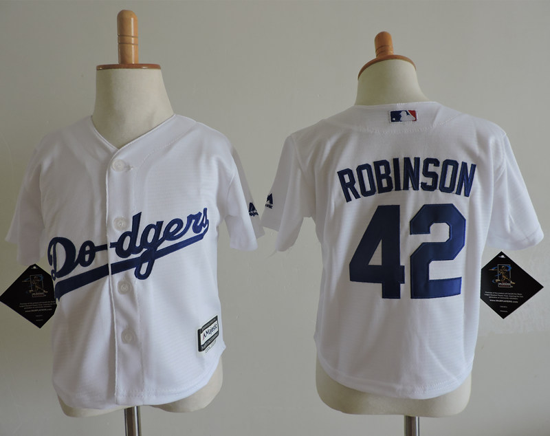 Dodgers 42 Jackie Robinson White Toddler Cool Base Jersey