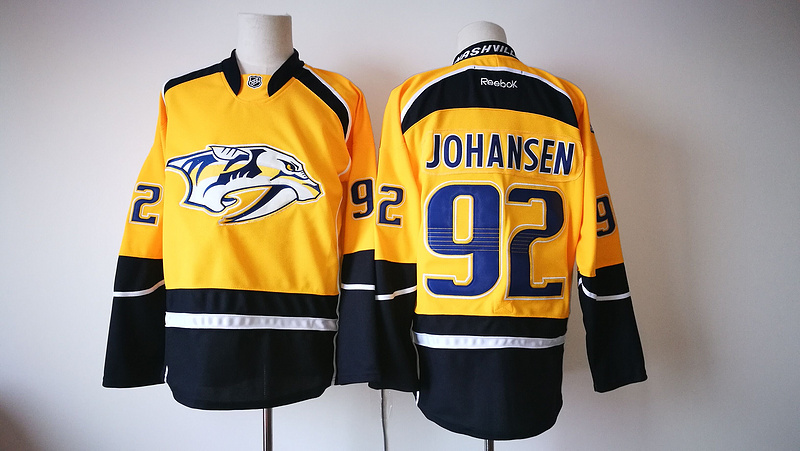 Predators 92 Ryan Johansen Gold Reebok Jersey