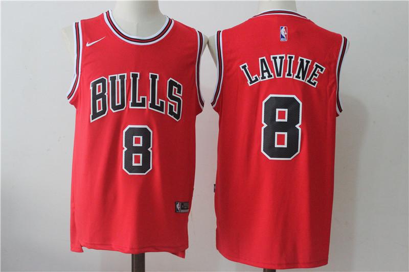 Bulls 8 Zach LaVine Red Nike Stitched Jersey