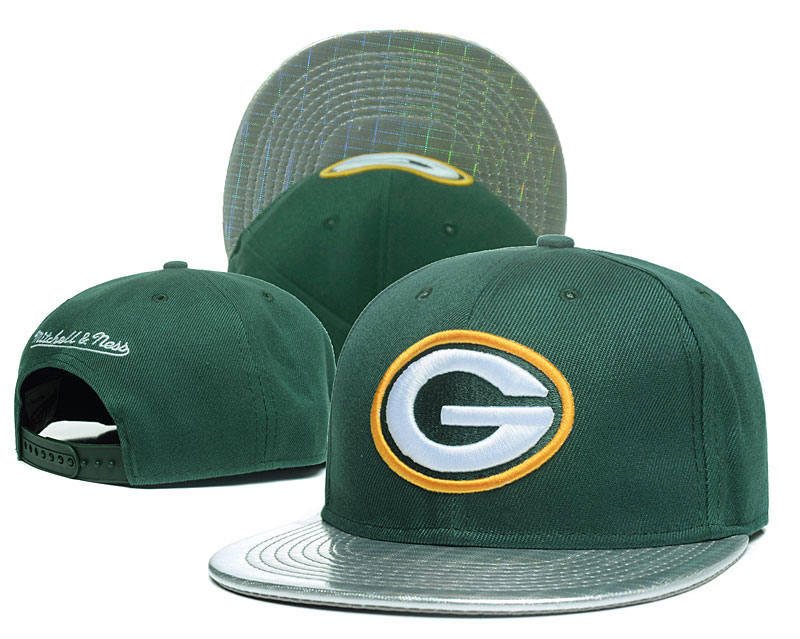 Packers Team Logo Green Mitchell & Ness Adjustable Hat GS
