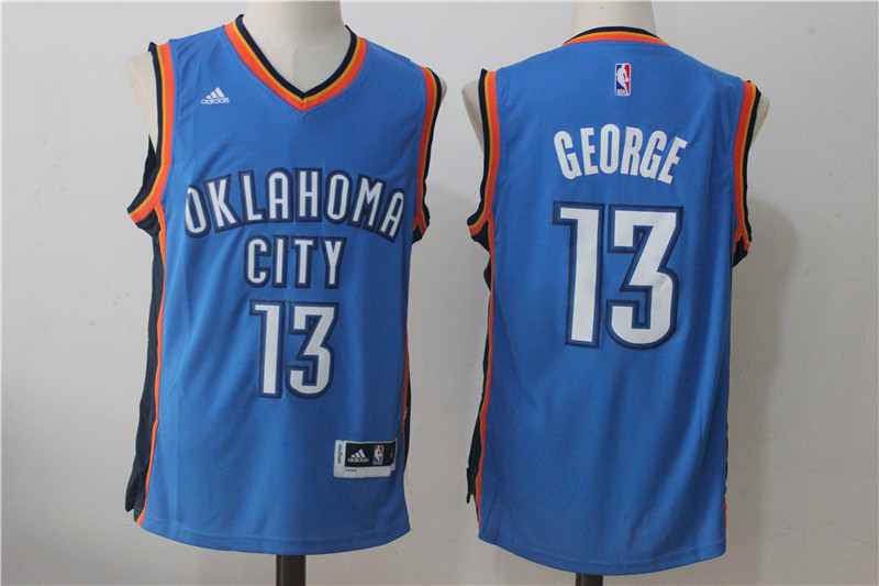Thunder 13 Paul George Blue Swingman Jersey
