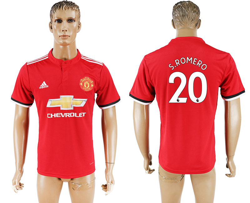 2017-18 Manchester United 20 S.ROMERO Home Thailand Soccer Jersey