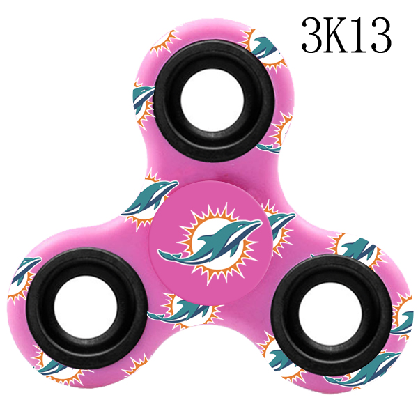 Miami Dolphins Multi-Logo 3 Way Fidget Spinner