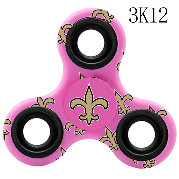 New Orleans Saints Multi-Logo 3 Way Fidget Spinner