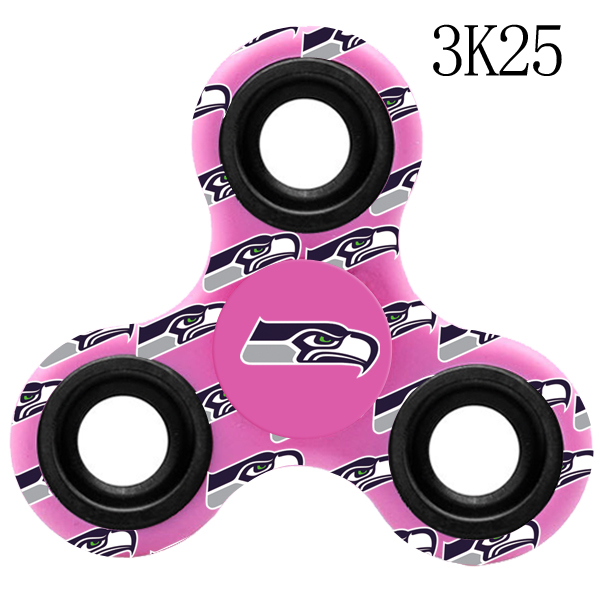 Seattle Seahawks Multi-Logo 3 Way Fidget Spinner