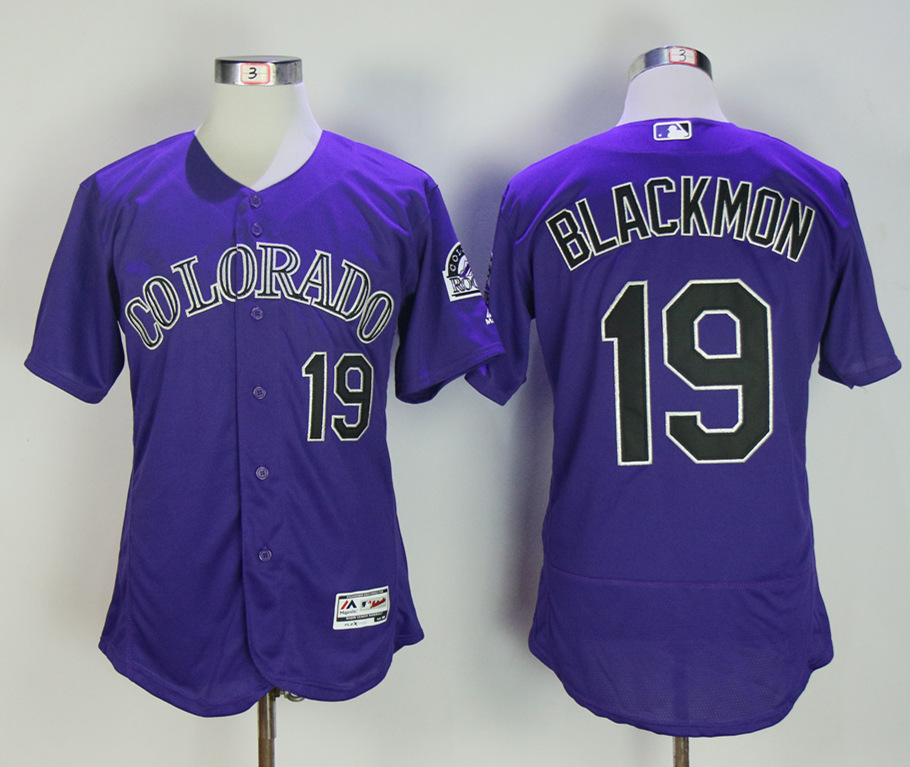 Rockies 19 Charlie Blackmon Purple Flexbase Jersey