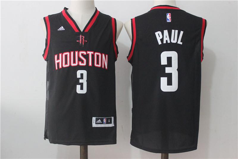Rockets 3 Chris Paul Black Swingman Jersey