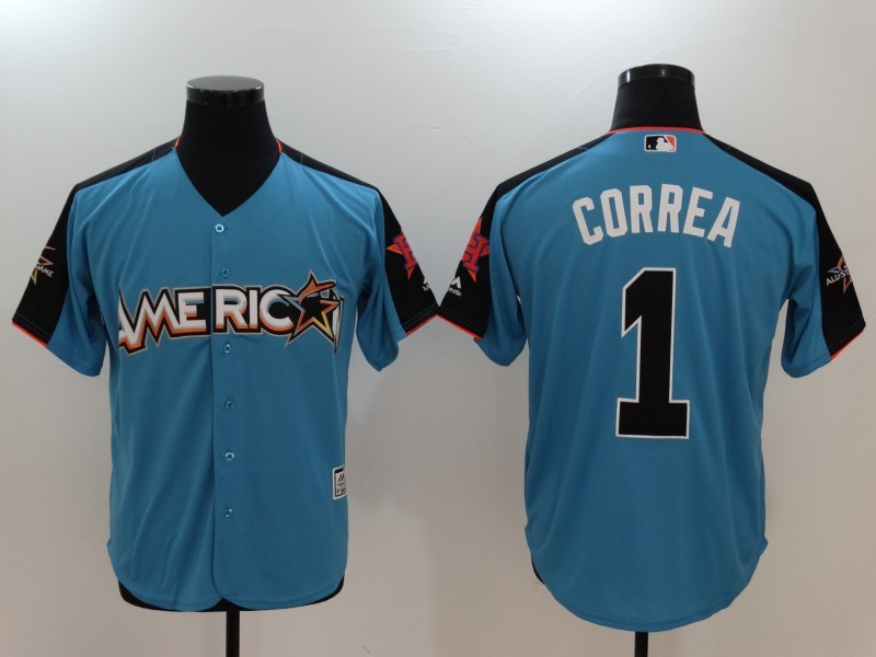 American League 1 Carlos Correa Blue 2017 MLB All-Star Game Home Run Derby Jersey