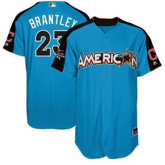 American League 23 Michael Brantley Blue 2017 MLB All-Star Game Home Run Derby Jersey