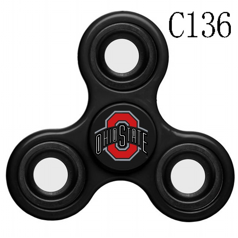 Ohio State Buckeyes Team Logo Black 3 Way Fidget Spinner