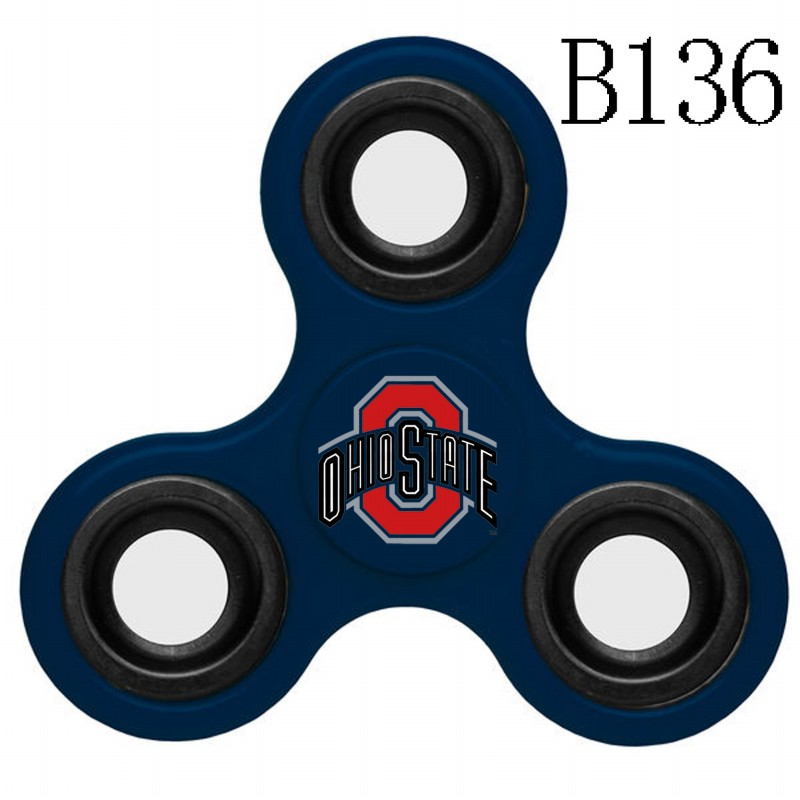 Ohio State Buckeyes Team Logo Navy 3 Way Fidget Spinner