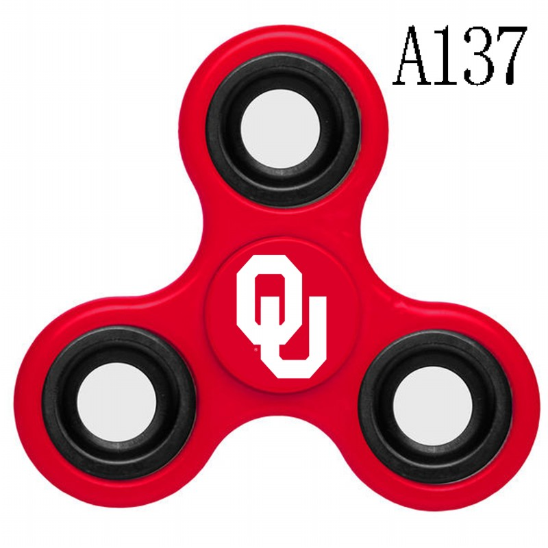 Oklahoma Sooners Team Logo Red 3 Way Fidget Spinner