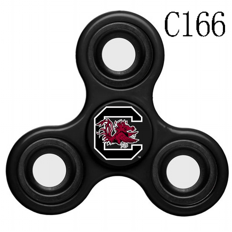 South Carolina Gamecocks Team Logo Black 3 Way Fidget Spinner