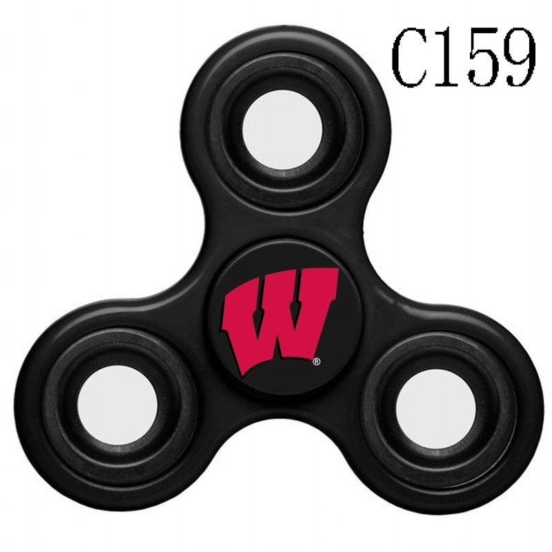 Wisconsin Badgers Team Logo Black 3 Way Fidget Spinner