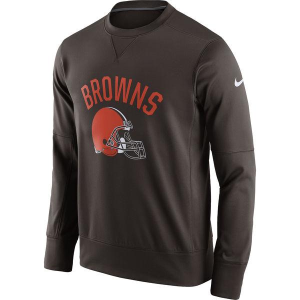 Men's Cleveland Browns Nike Brown Sideline Circuit Performance Sweatshirt