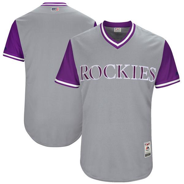 Rockies Majestic Gray 2017 Players Weekend Team Jersey