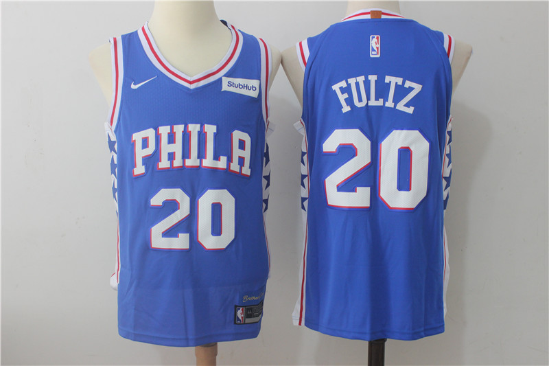 76ers 20 Markelle Fultz Blue Nike Authentic Jersey