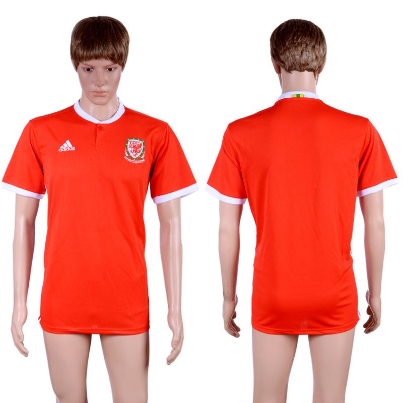 2017-18 Welsh Home Thailand Soccer Jersey