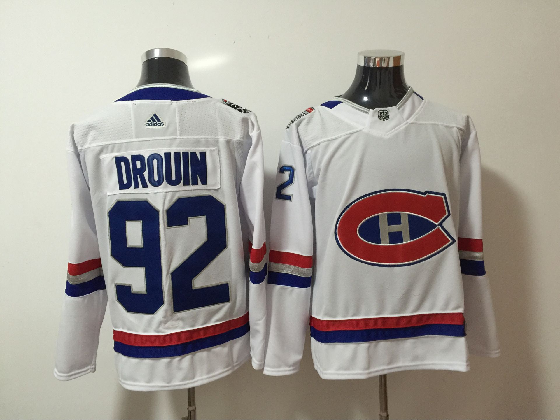 Canadiens 92 Jonathan Drouin White 2017 NHL 100 Classic Adidas Jersey