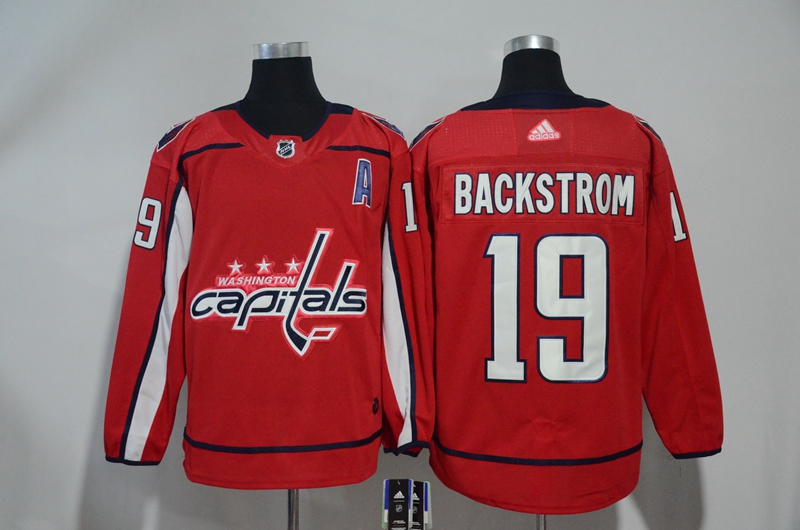 Capitals 19 Nicklas Backstrom Red Adidas Jersey