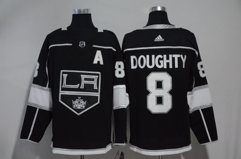 Kings 8 Drew Doughty Black Adidas Jersey