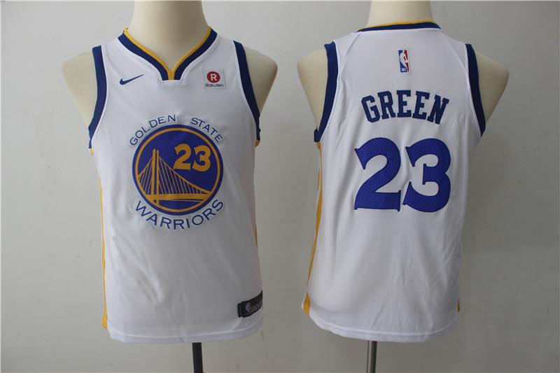 Warriors 23 Draymond Green White Youth Nike Swingman Jersey