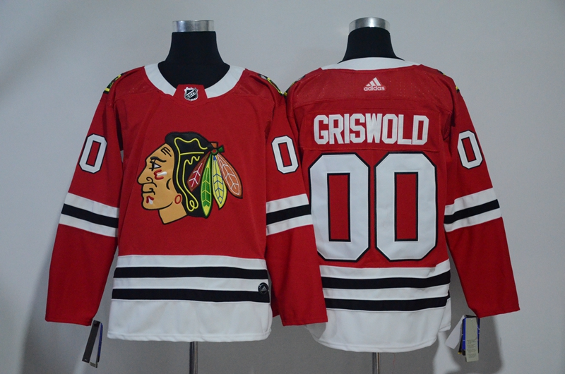 Blackhawks 00 Clark Griswold Red Adidas Jersey