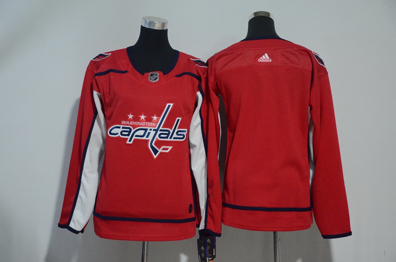 Capitals Blank Red Women Adidas Jersey