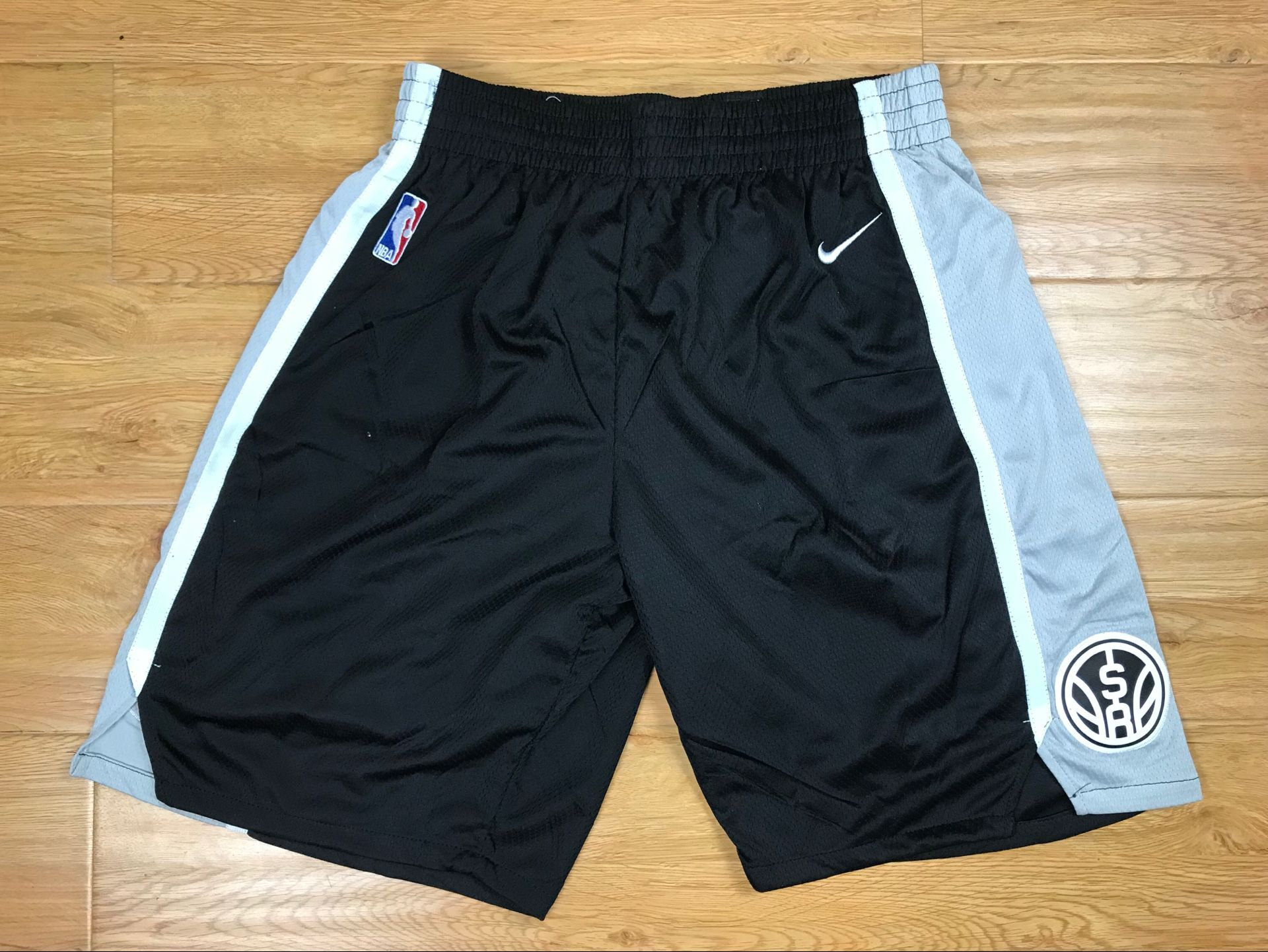 Spurs Black Nike Authentic Shorts