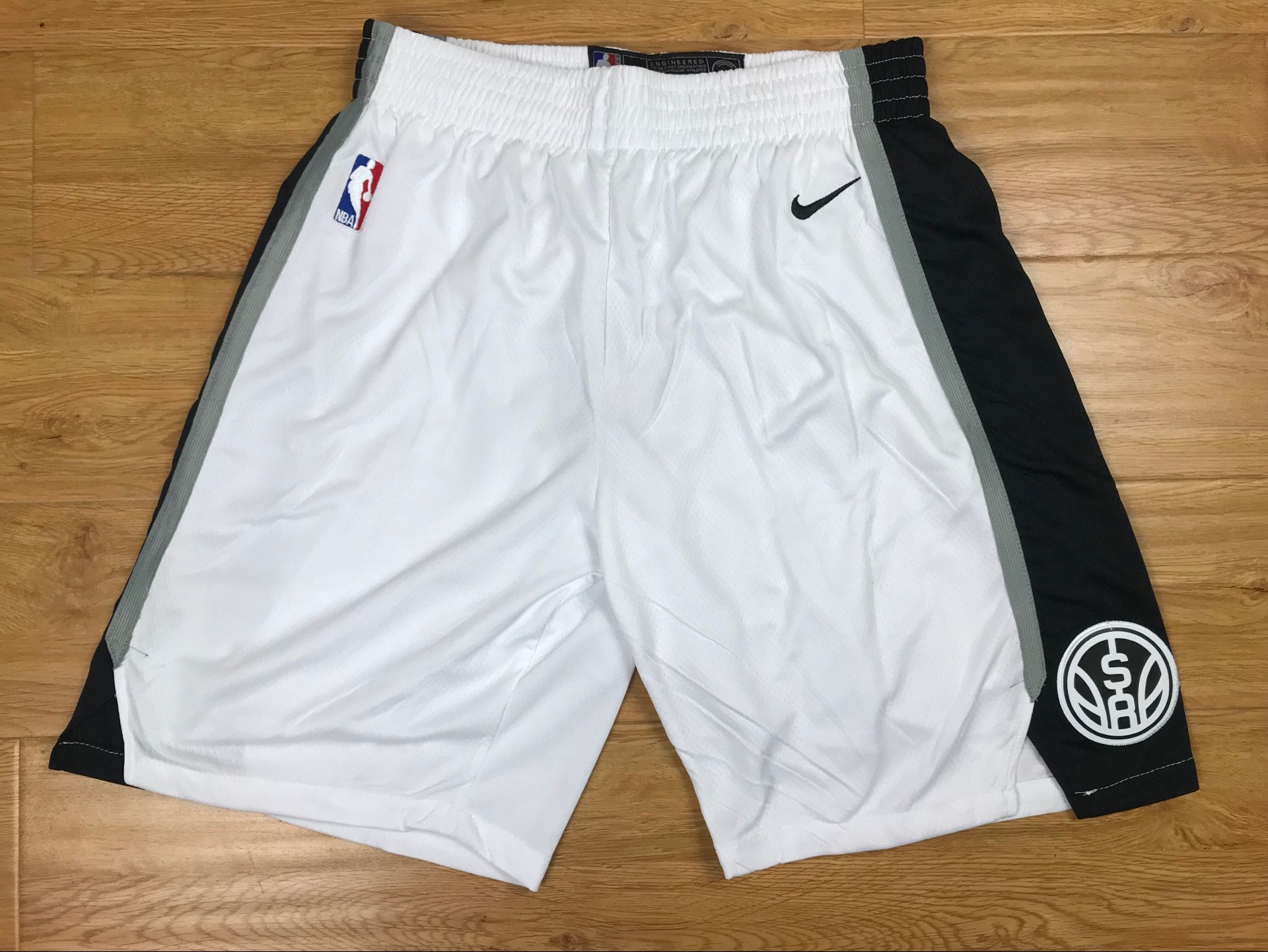 Spurs White Nike Authentic Shorts