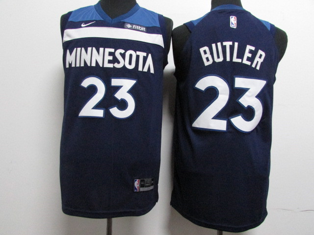 Timberwolves 23 Jimmy Butler Navy Nike Authentic Jersey