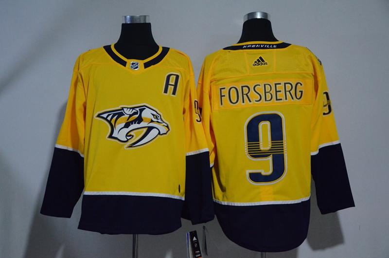 Predators 9 Filip Forsberg Gold Adidas Jersey