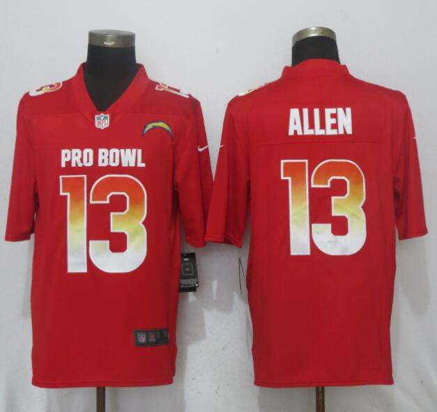 Nike AFC Chargers 13 Keenan Allen Red 2018 Pro Bowl Game Jersey
