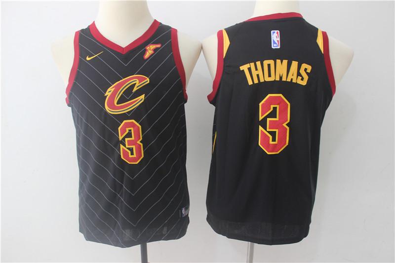 Cavaliers 3 Isaiah Thomas Black Youth Nike Swingman Jersey