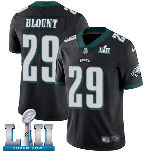 Nike Eagles 29 LeGarrette Blount Black 2018 Super Bowl LII Vapor Untouchable Player Limited Jersey