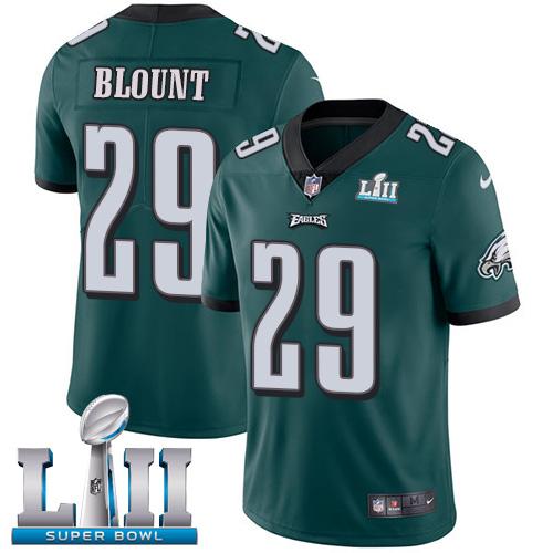 Nike Eagles 29 LeGarrette Blount Green 2018 Super Bowl LII Vapor Untouchable Player Limited Jersey