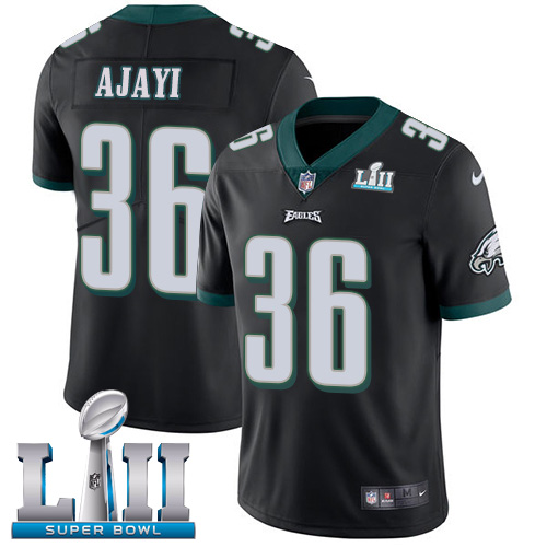 Nike Eagles 36 Jay Ajayi Black 2018 Super Bowl LII Vapor Untouchable Player Limited Jersey