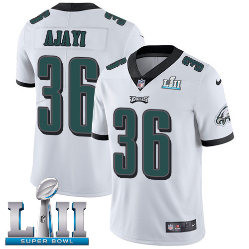 Nike Eagles 36 Jay Ajayi White 2018 Super Bowl LII Vapor Untouchable Player Limited Jersey