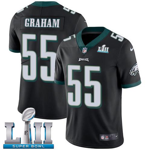 Nike Eagles 55 Brandon Graham Black 2018 Super Bowl LII Vapor Untouchable Player Limited Jersey