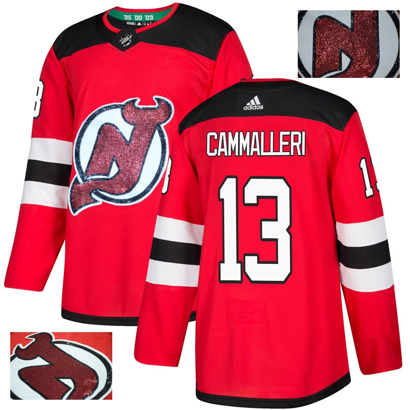Devils 13 Mike Cammalleri Red With Special Glittery Logo Adidas Jersey
