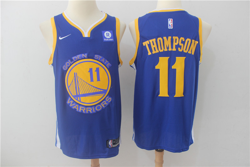 Warriors 11 Klay Thompson Blue Nike Swingman Jersey