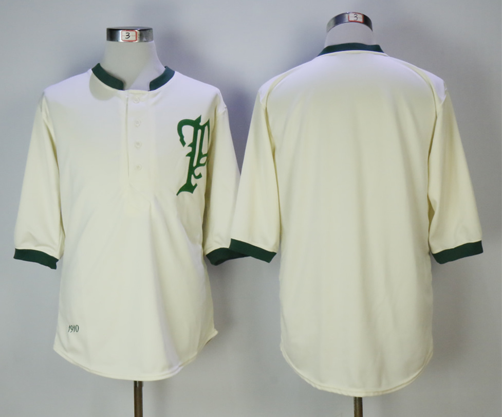 Phillies Blank Cream 1910 Mitchell & Ness Throwback Jersey