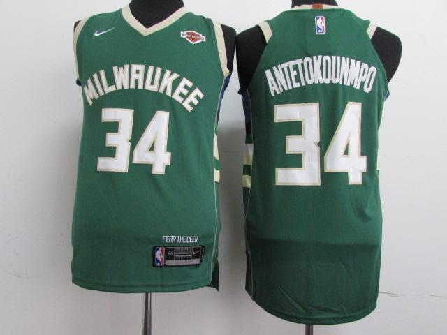Bucks 34 Giannis Antetokounmpo Green Youth Nike Authentic Jersey