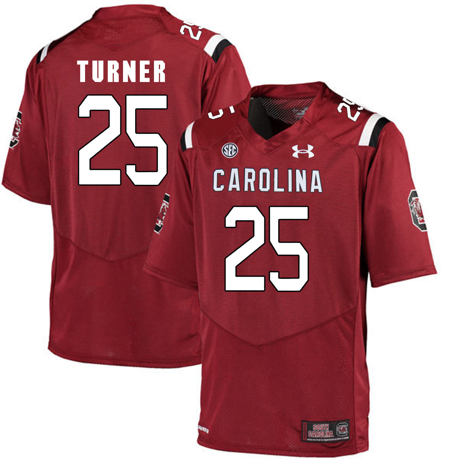 South Carolina Gamecocks 25 A.J. Turner Red College Football Jersey