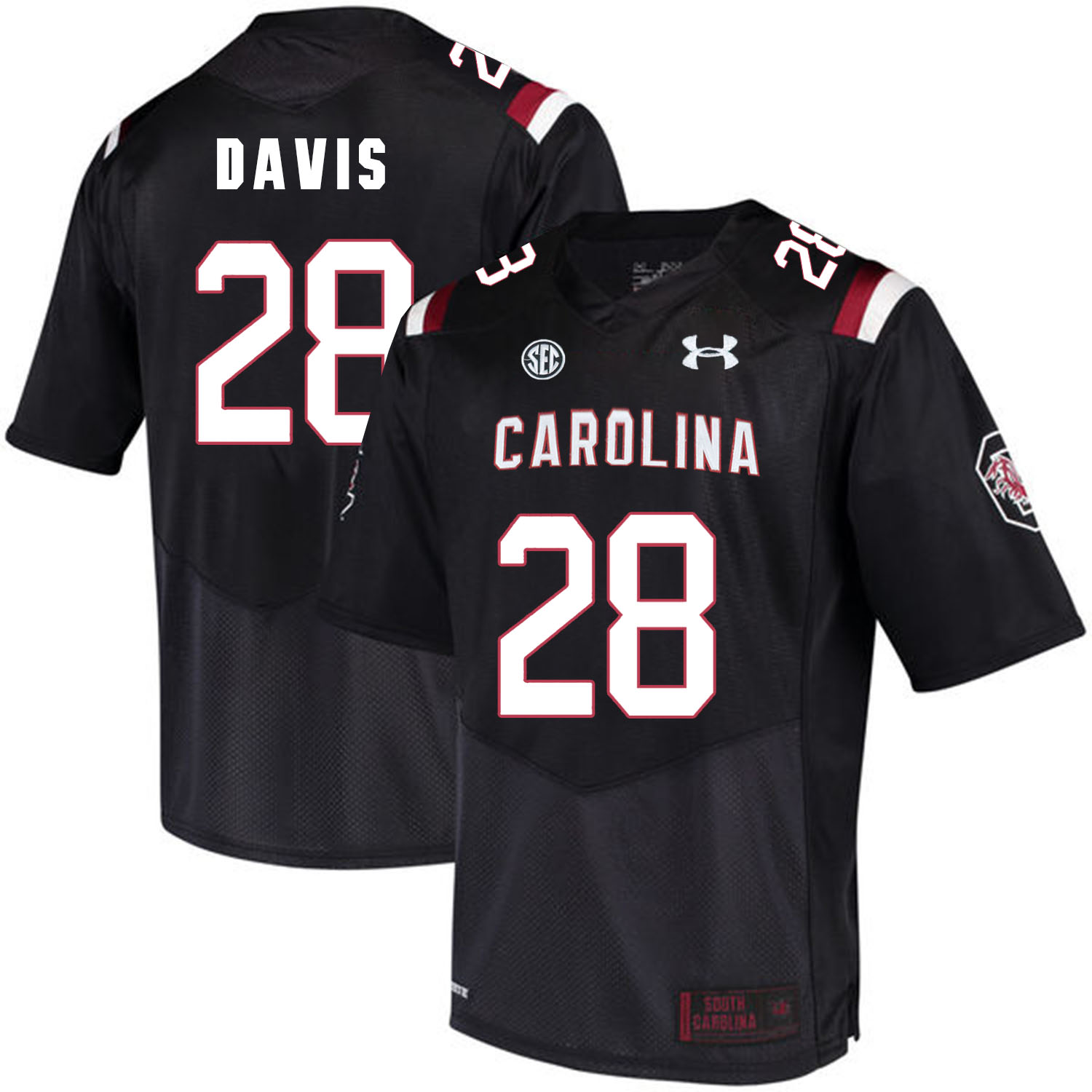 South Carolina Gamecocks 28 Mike Davis Black College Football Jersey