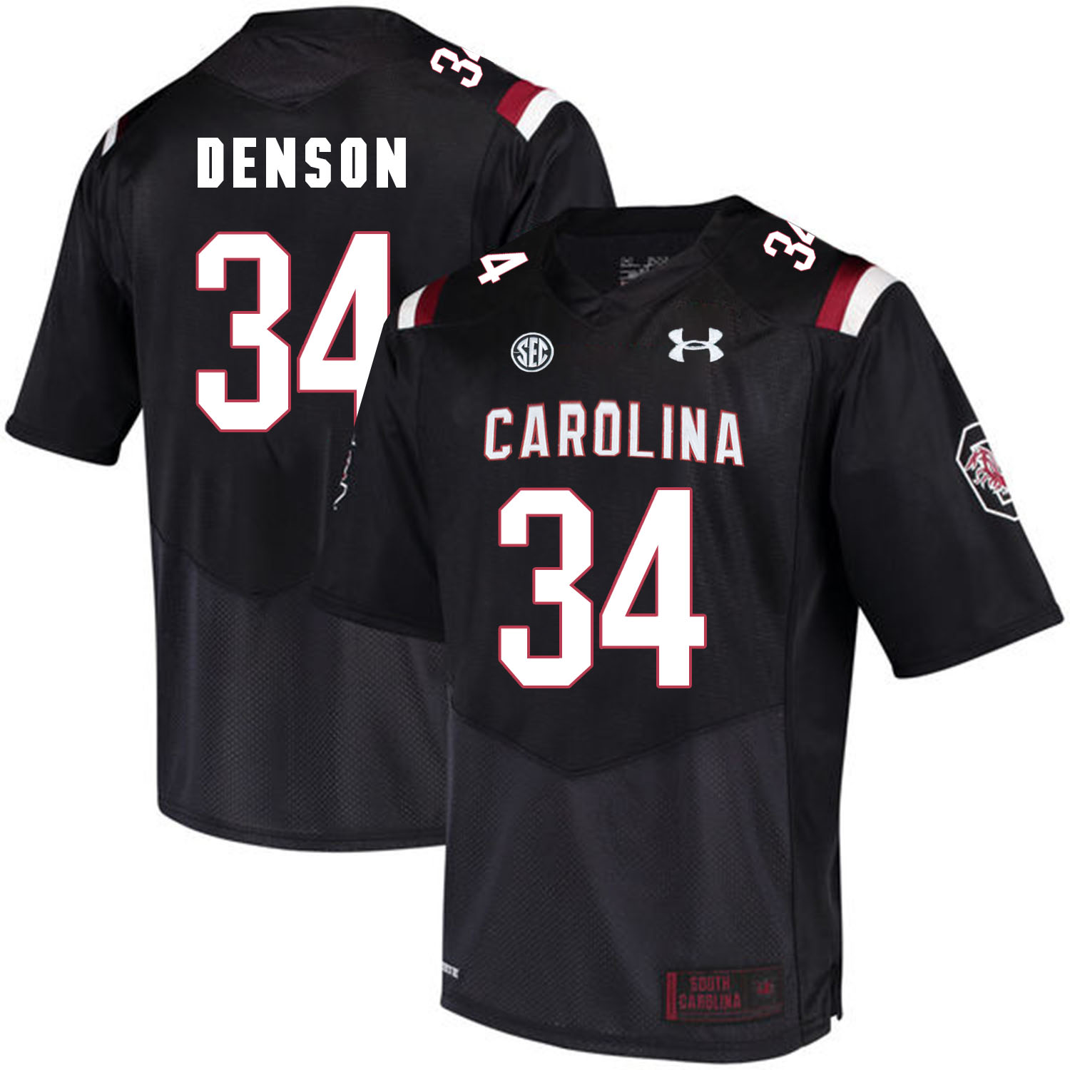 South Carolina Gamecocks 34 Mon Denson Black College Football Jersey