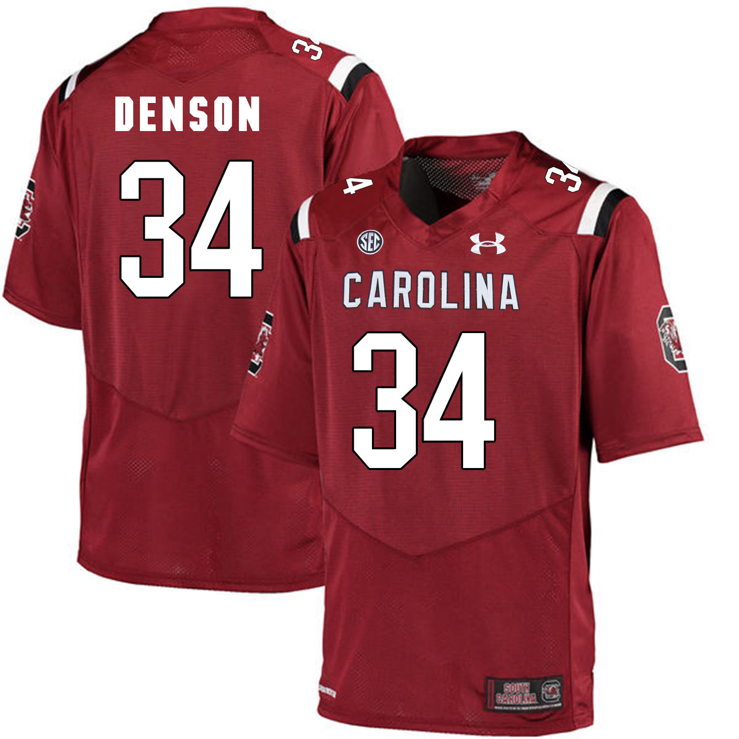 South Carolina Gamecocks 34 Mon Denson Red College Football Jersey