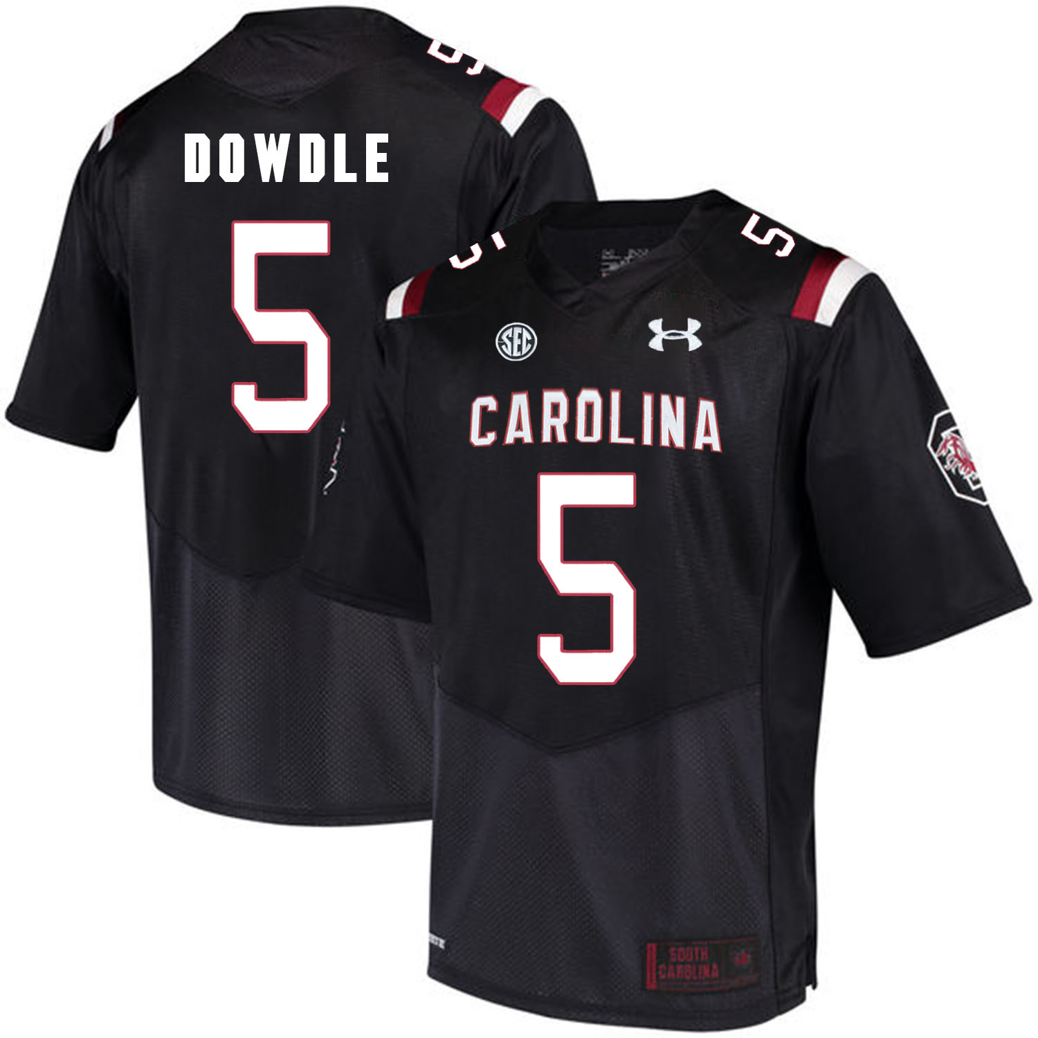 South Carolina Gamecocks 5 Rico Dowdle Black College Football Jersey