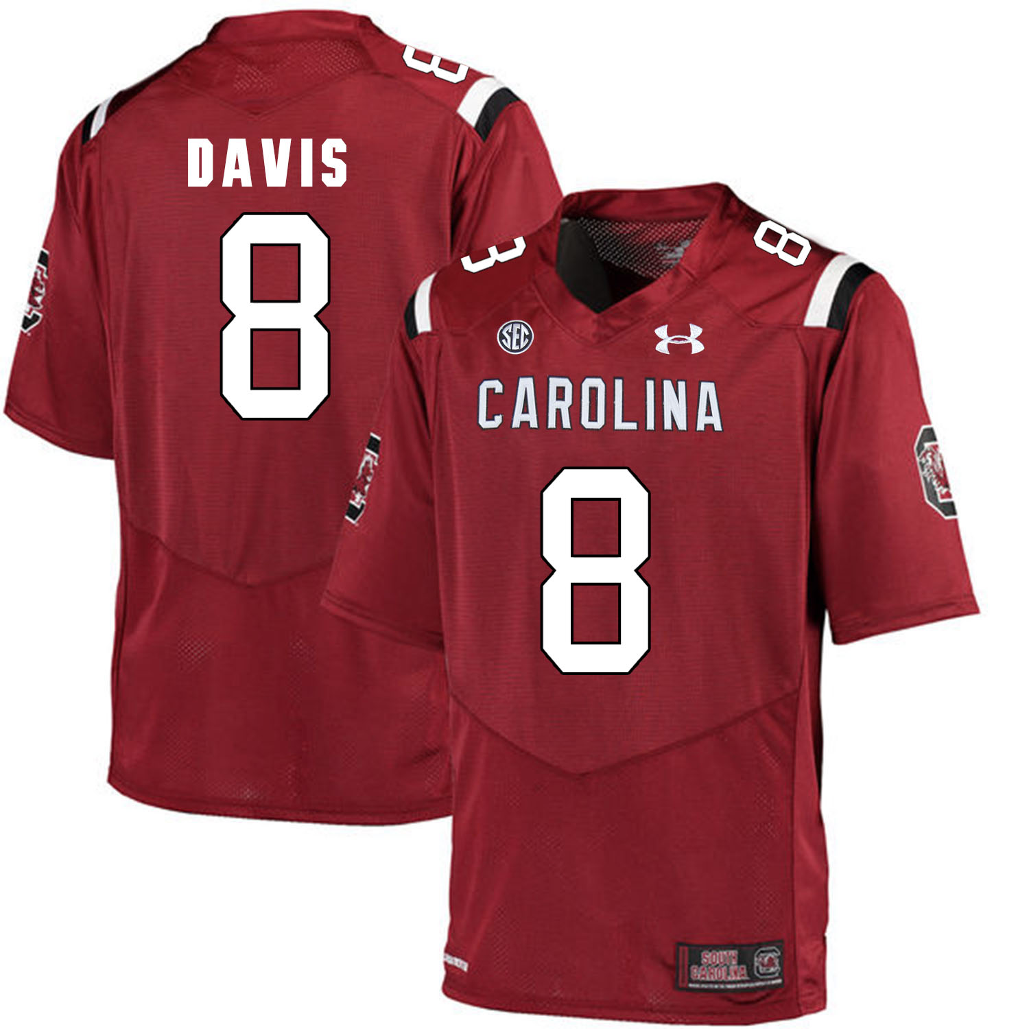 South Carolina Gamecocks 8 Randrecous Davis Red College Football Jersey