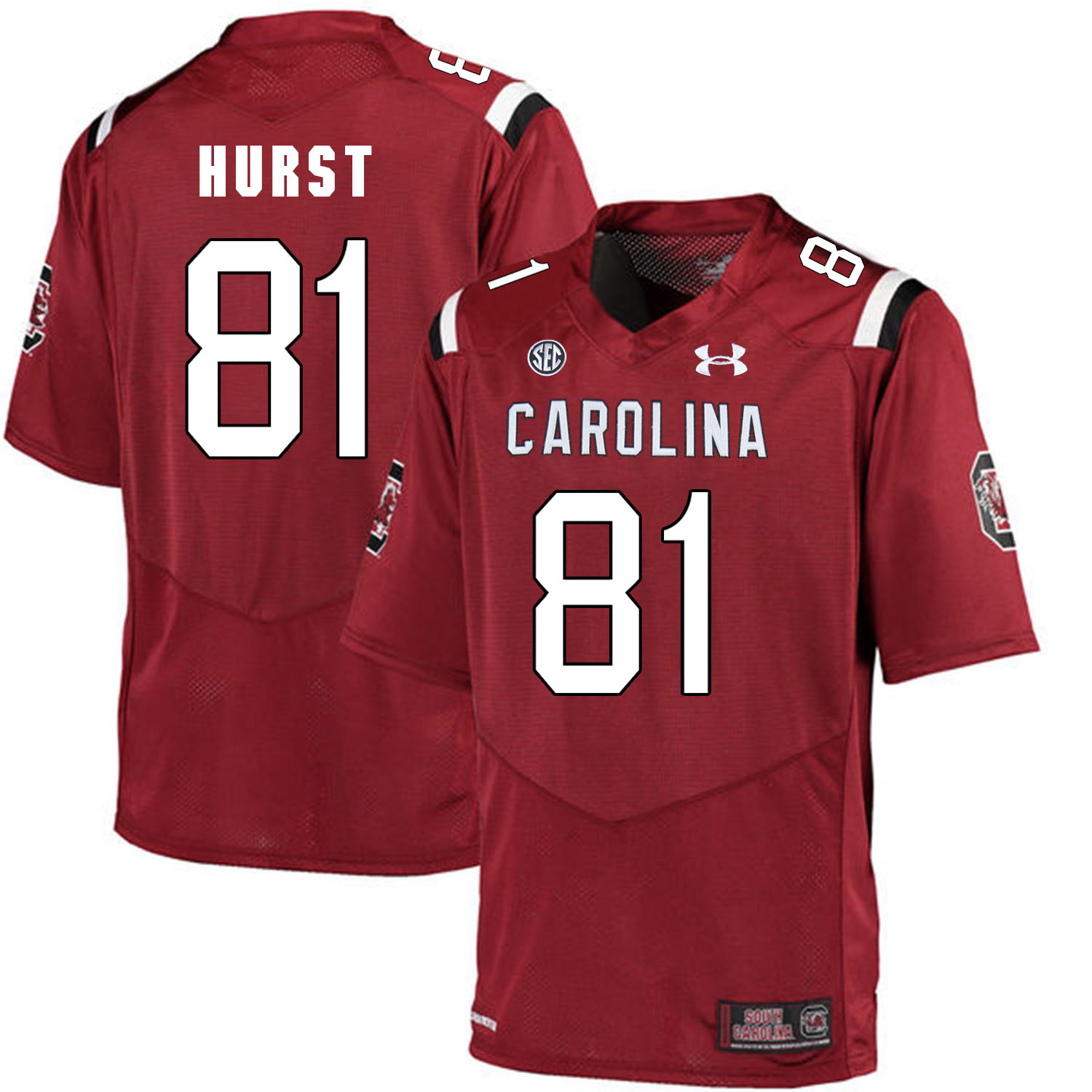 South Carolina Gamecocks 81 Hayden Hurst Red College Football Jersey